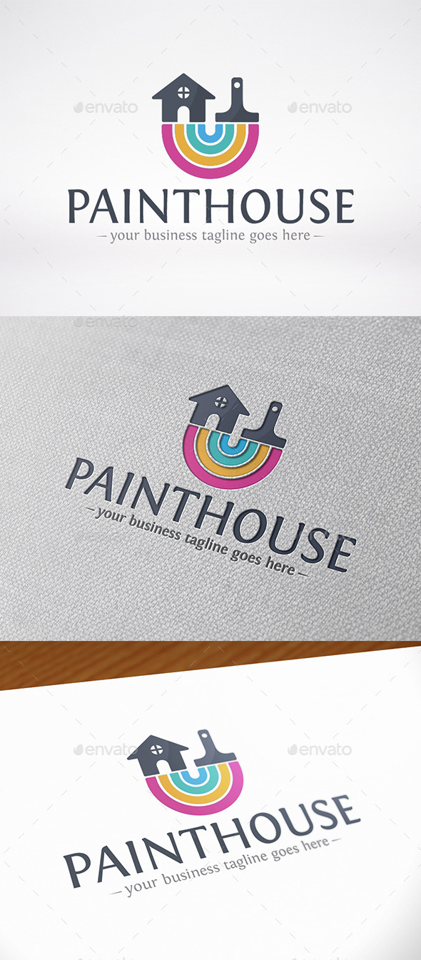 Paint House Logo Template - Buildings Logo Templates