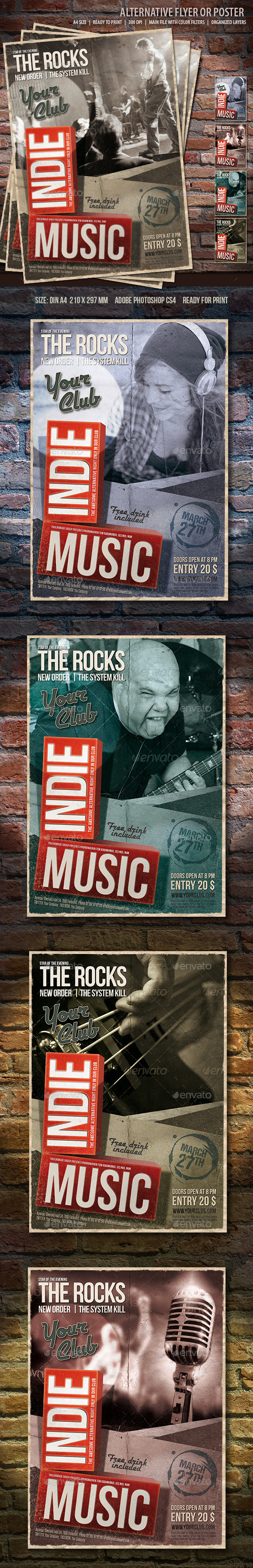 Indie Music Flyer  - Concerts Events