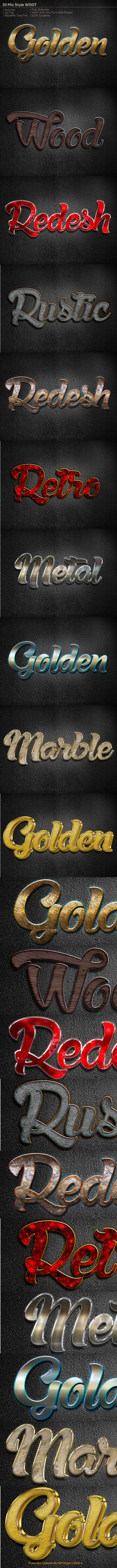10 Mix Style W007 - Text Effects Styles