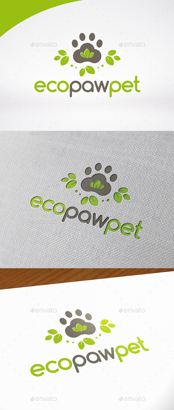 Eco Pet Logo Template - Animals Logo Templates