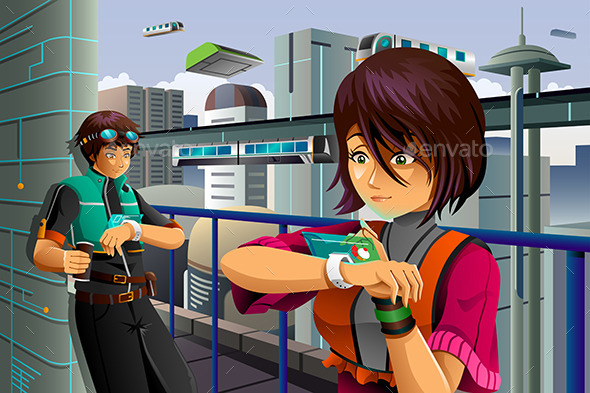 People Wearing High Tech Watch - Computers Technology