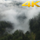 Aerial Flying Above the Clouds And Forest - VideoHive Item for Sale