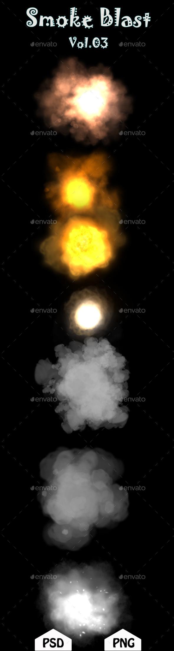 Smoke Blast Vol.03 - Sprites Game Assets