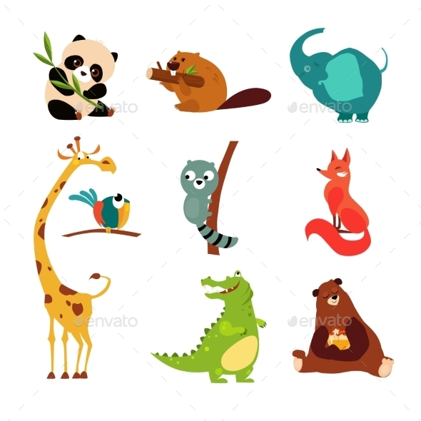 Wild Animal Set  - Animals Characters
