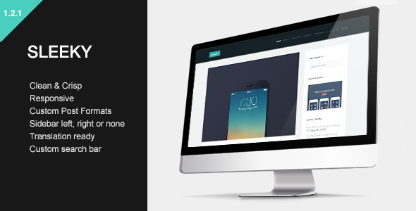Sleeky - Clean Sidebar Style Theme - Blog / Magazine WordPress