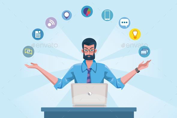 Technology Expert Man - Web Technology