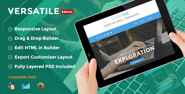 Versatile - Creative E-Newsletter + Builder Access