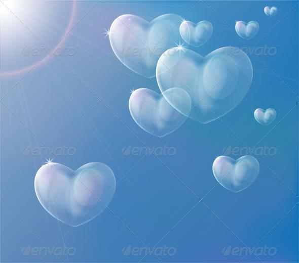 Hearts Soap Bubbles - Valentines Seasons/Holidays