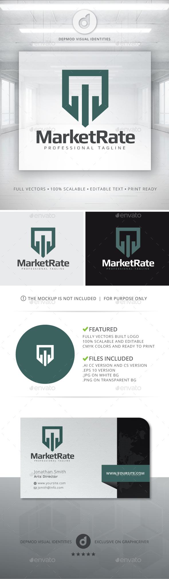 Market Rate Logo - Symbols Logo Templates