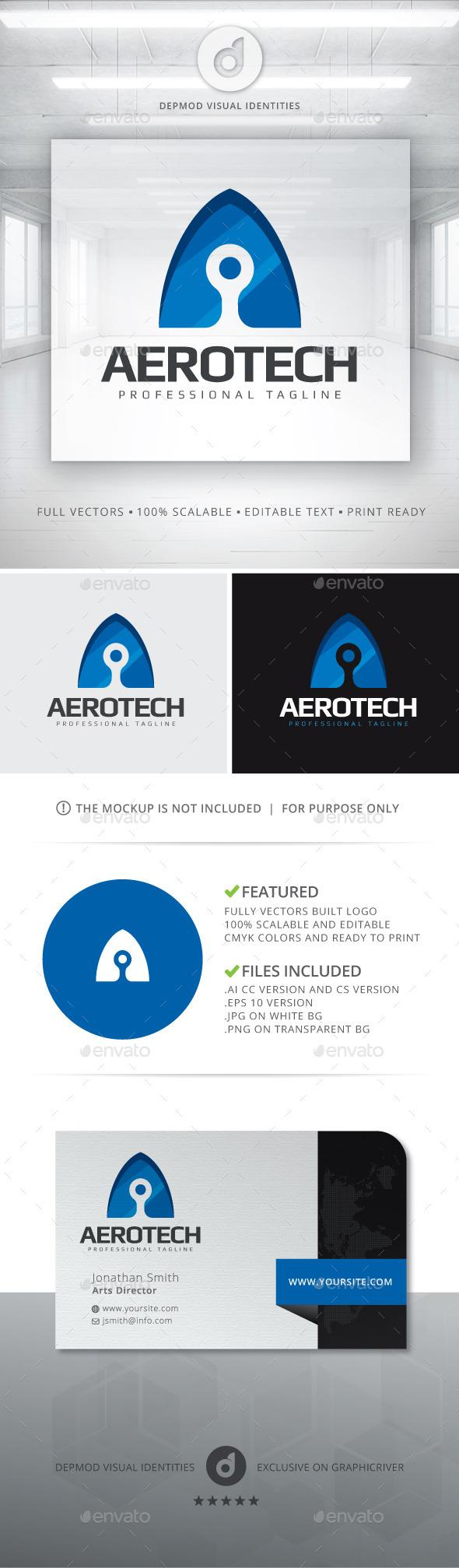 Aerotech Logo - Letters Logo Templates