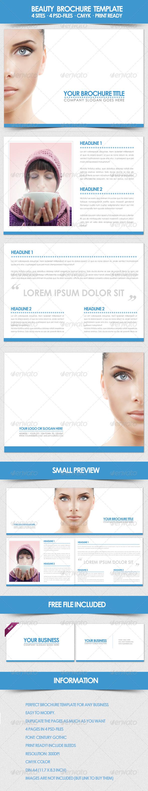 Beauty Brochure Template - Corporate Brochures