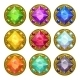 Colorful Round Golden Amulets - GraphicRiver Item for Sale