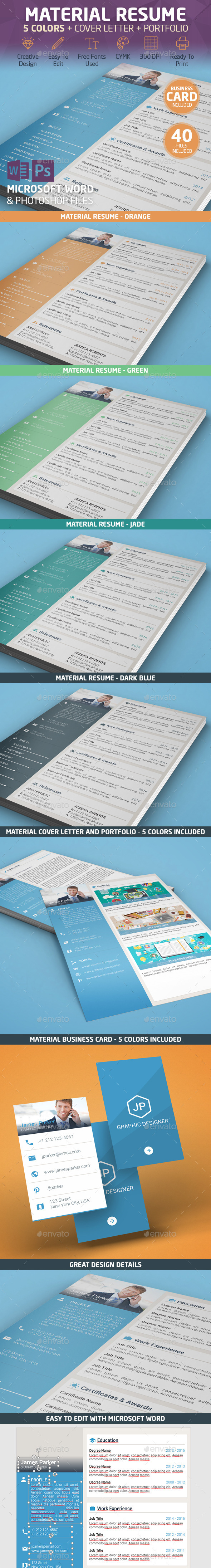 Material Resume - Resumes Stationery