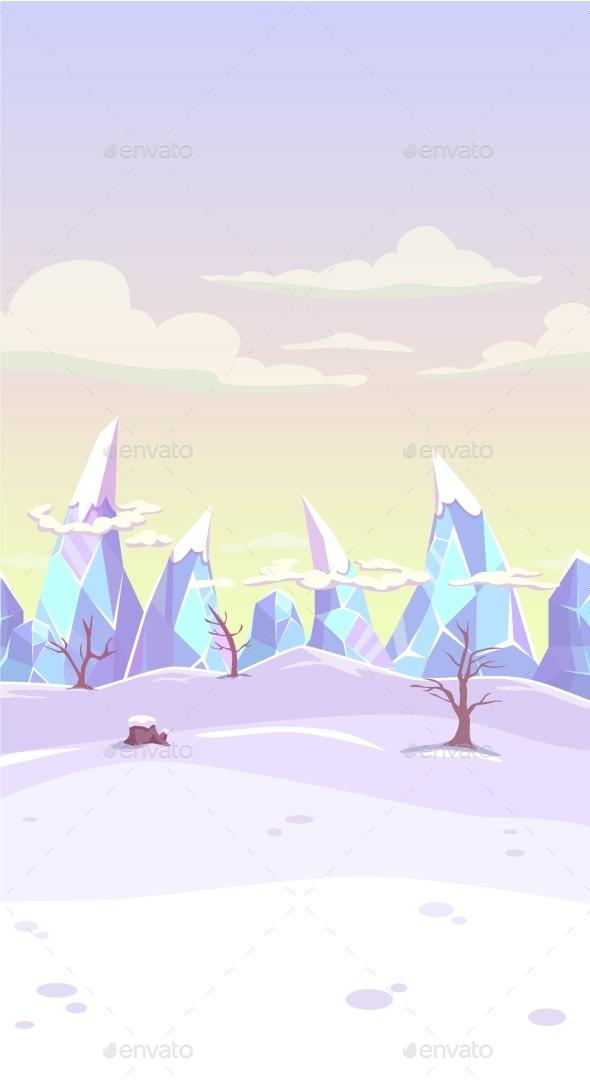 Fantasy Winter Landscape - Landscapes Nature