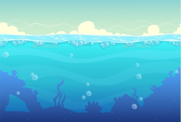 Underwater Seamless Landscape - Landscapes Nature