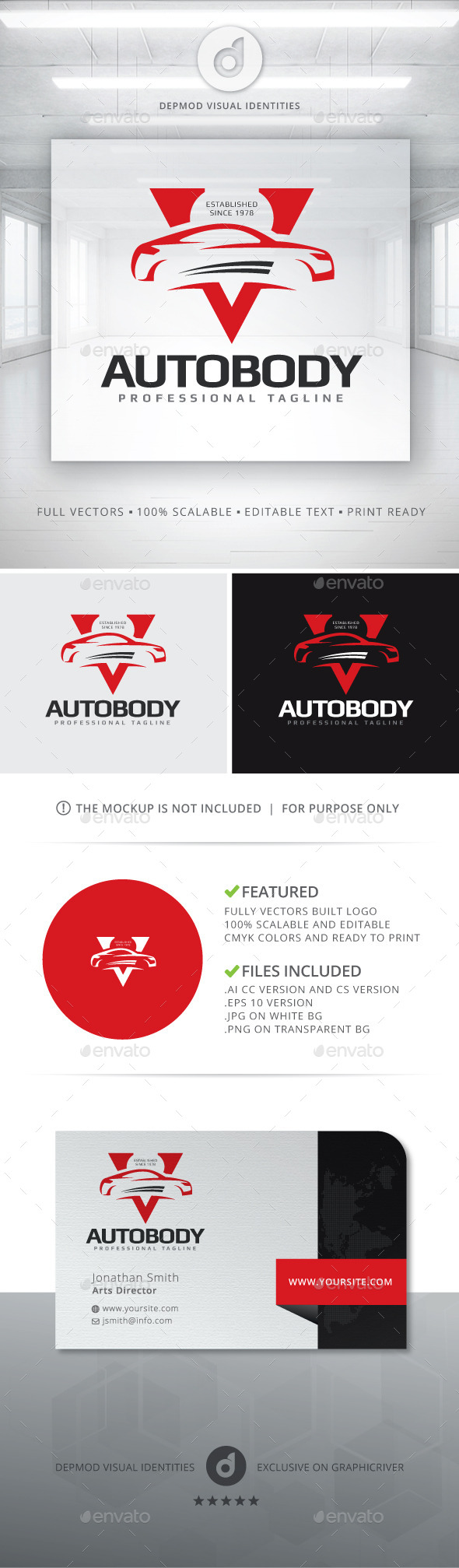 Auto Body Logo - Objects Logo Templates