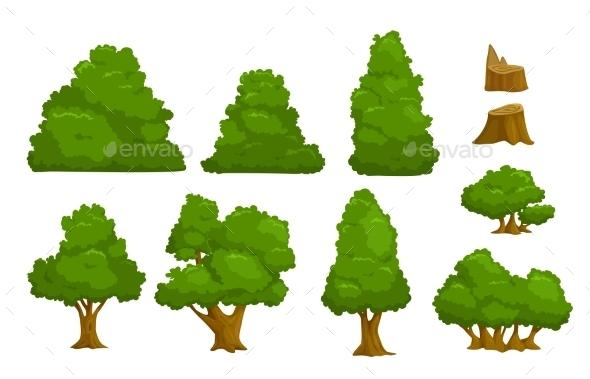 Nature Elements Set - Landscapes Nature