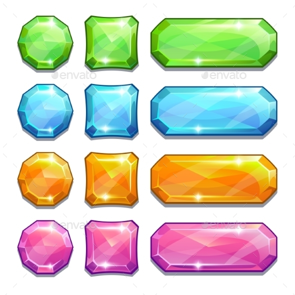Colorful Crystal Buttons - Web Technology