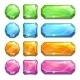 Colorful Crystal Buttons - GraphicRiver Item for Sale