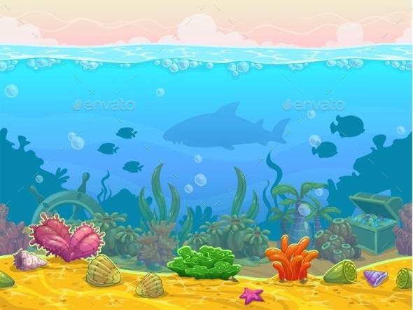 Underwater Seamless Landscape - Landscapes Nature