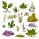 Cartoon Nature Elements - GraphicRiver Item for Sale