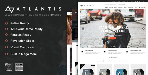 Atlantis – Multi Layout e-Commerce WordPress Theme