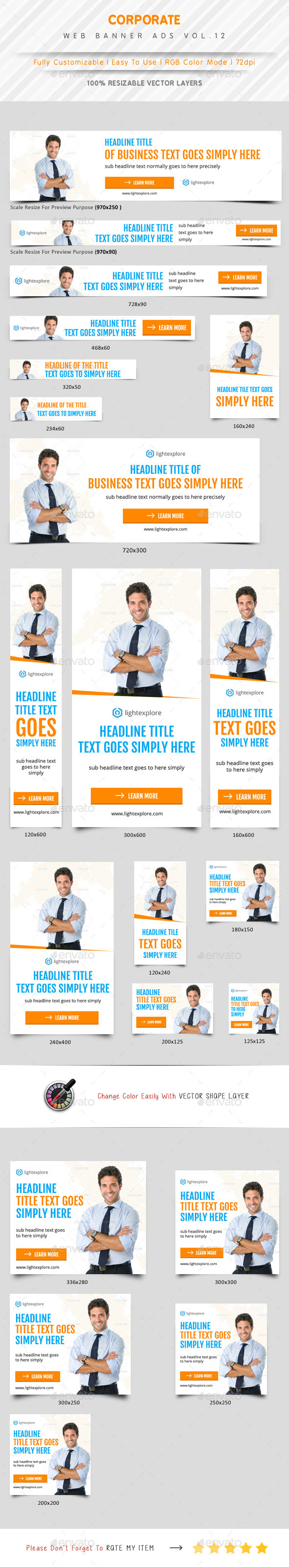 Corporate Web Banner Ads Vol.12 - Banners & Ads Web Elements