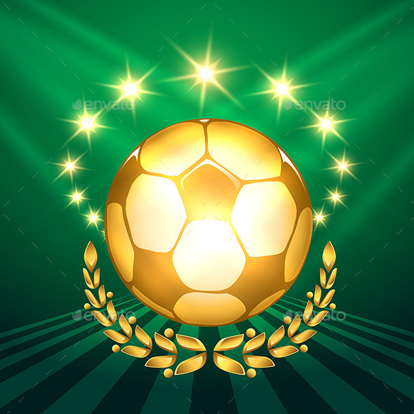 Golden Soccer Ball - Sports/Activity Conceptual