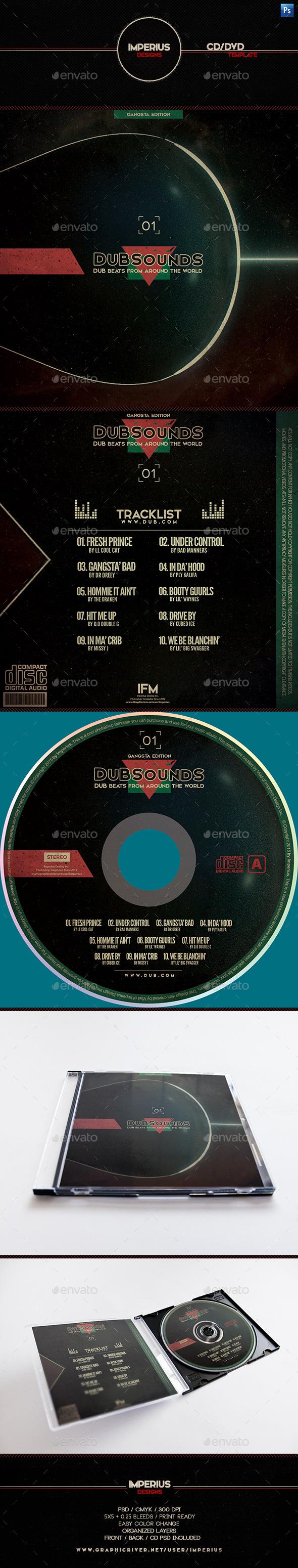 DubSounds CD/DVD Cover - CD & DVD Artwork Print Templates