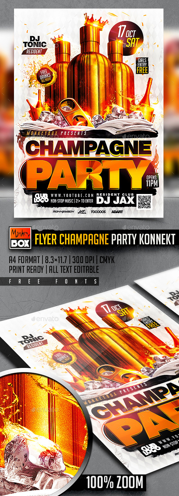 Flyer Champagne Party Konnekt - Clubs & Parties Events
