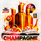 Flyer Champagne Party Konnekt - GraphicRiver Item for Sale