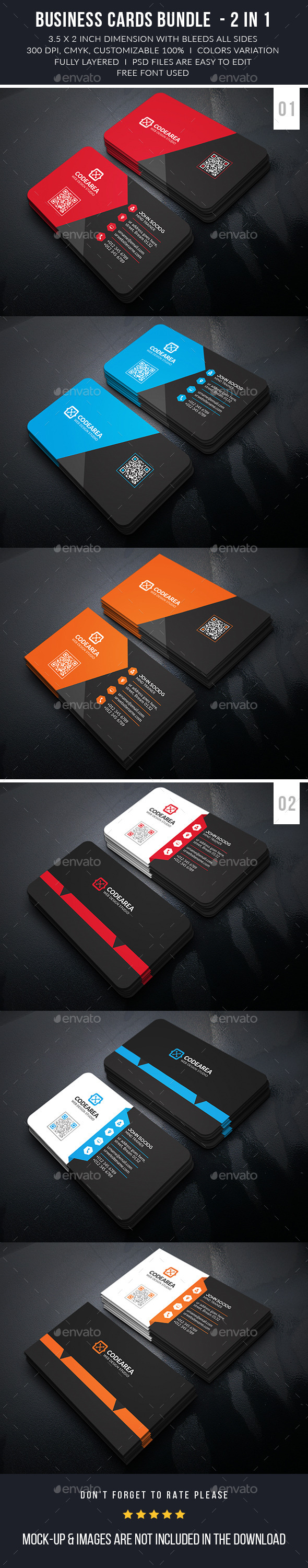 Creative Corporate Business Cards Bundle - Business Cards Print Templates