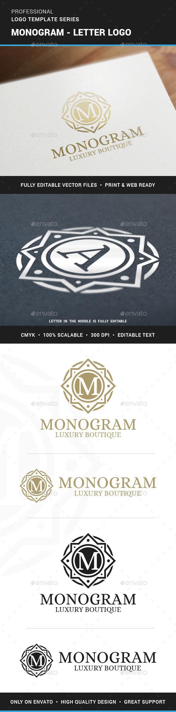 Monogram - Letter Logo - Letters Logo Templates