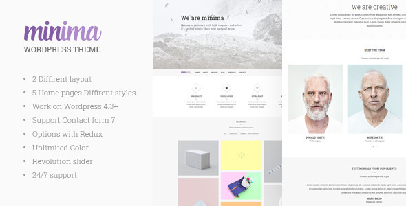 Minima Creative & Professional WP Theme