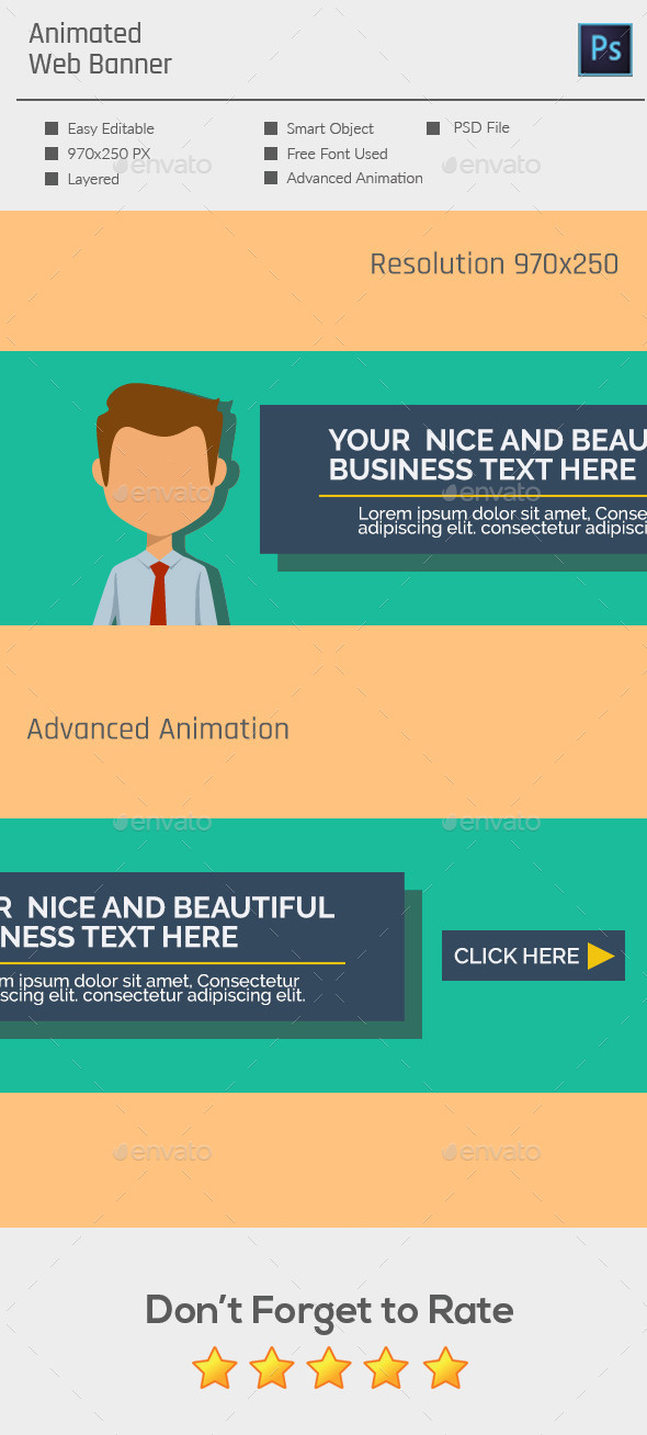 Multipurpose Animated Web Banner - Banners & Ads Web Elements