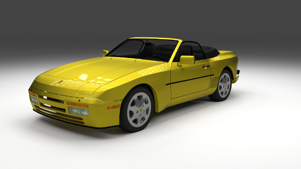 Porsche 944 Cabrio with interior - 3DOcean Item for Sale