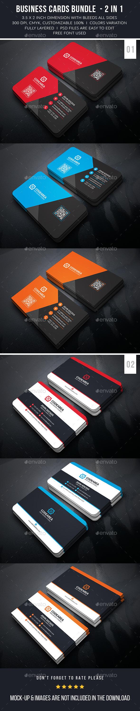 Modern Corporate Business Card Bundle - Business Cards Print Templates