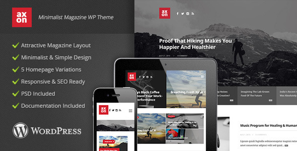 Axon – Minimalist Magazine WordPress Theme