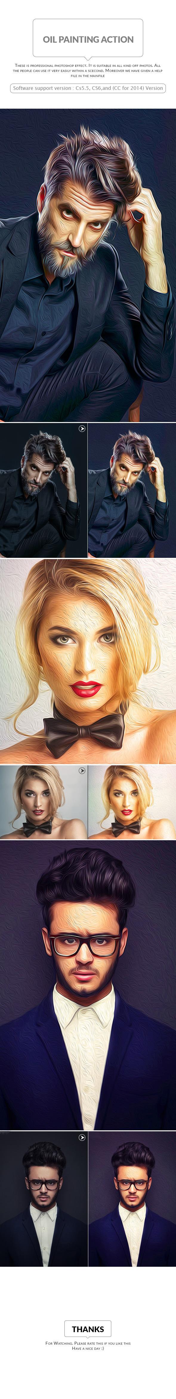 Oil Painting Action - Photo Effects Actions