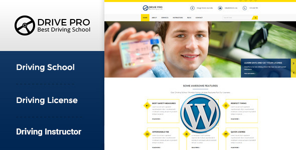 Drive Pro - Driving School WordPress Theme