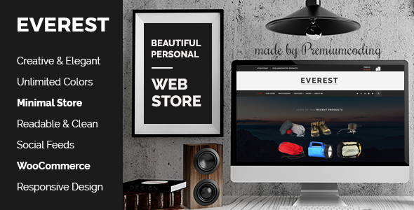 Everest – Minimal Ecommerce WordPress Theme