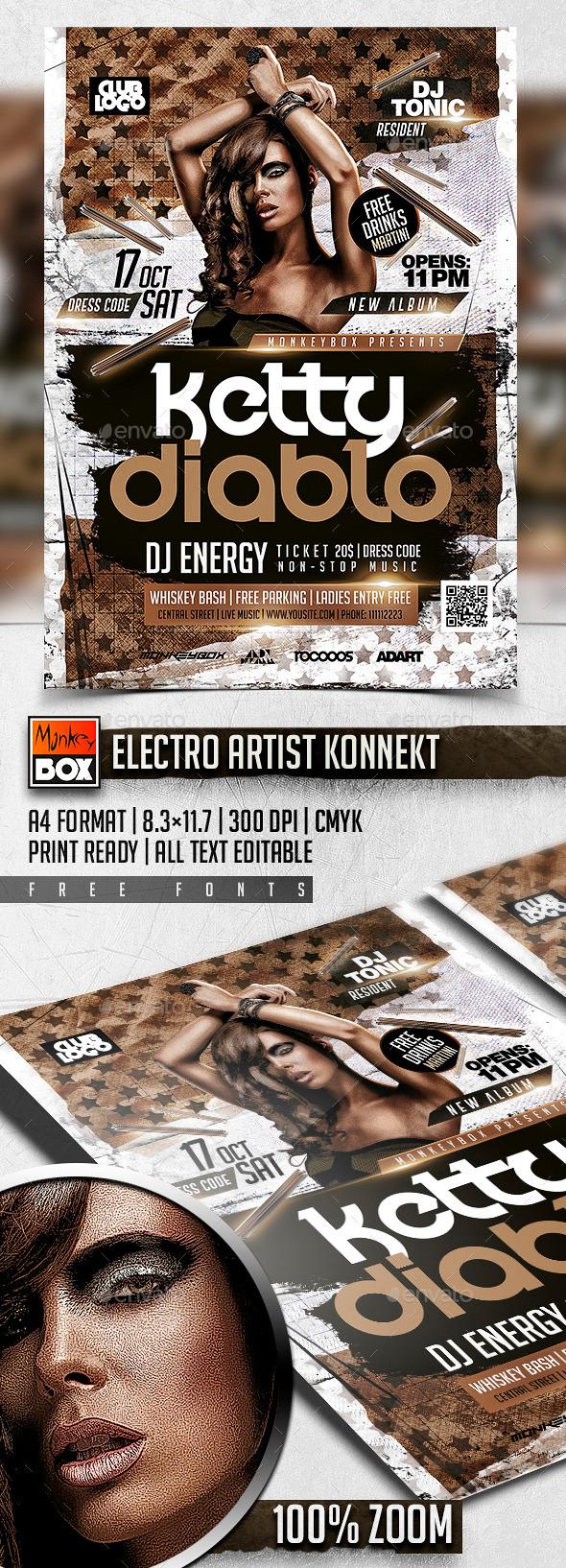 Electro Artist Konnekt - Clubs & Parties Events