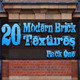 20 Modern Brick Textures - Pack One  - GraphicRiver Item for Sale