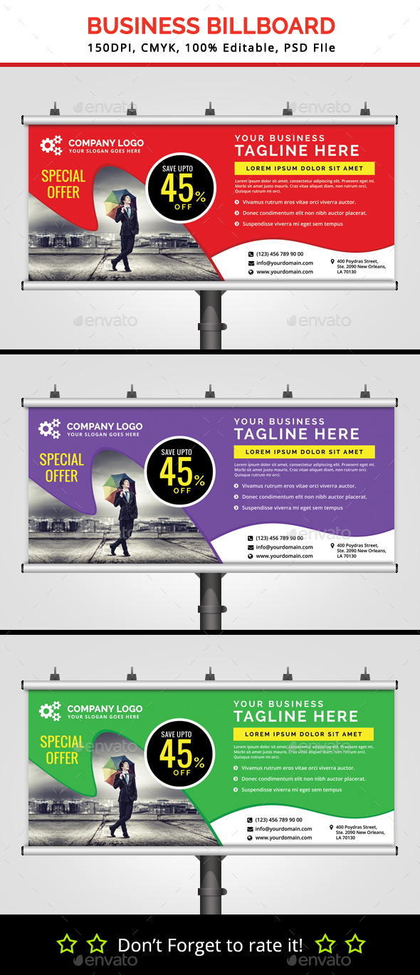 Business Billboard V4 - Signage Print Templates