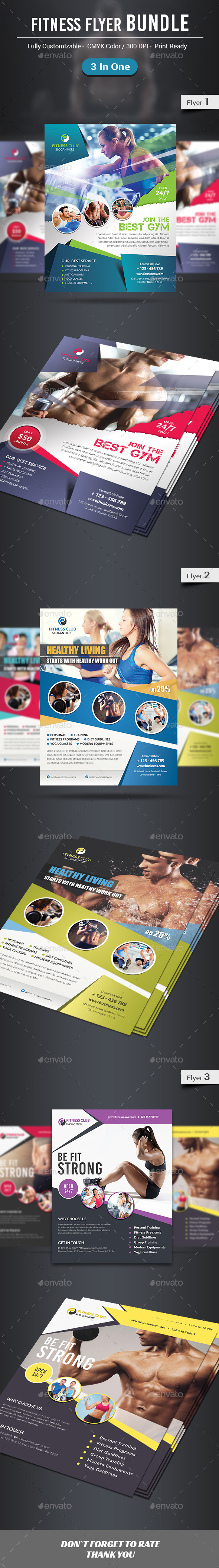 Fitness Flyer Bundle - Sports Events
