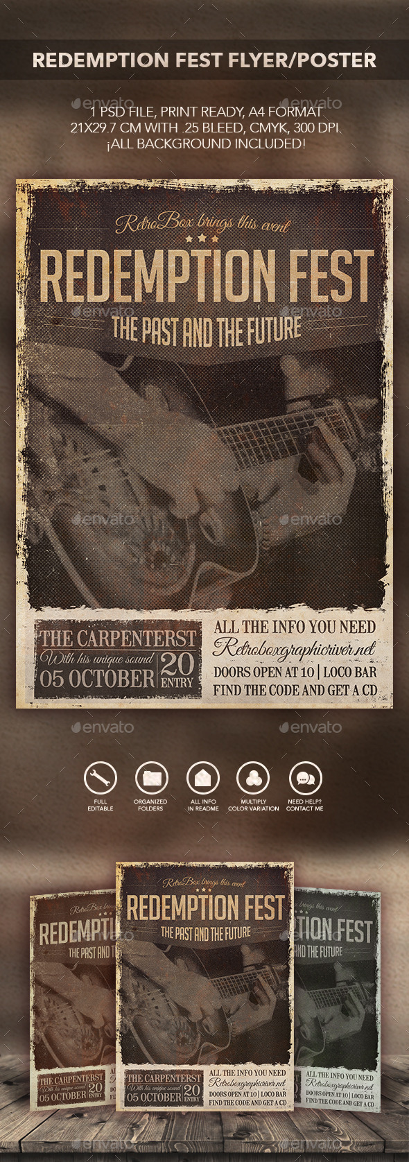 Redemption Fest Flyer Poster - Flyers Print Templates