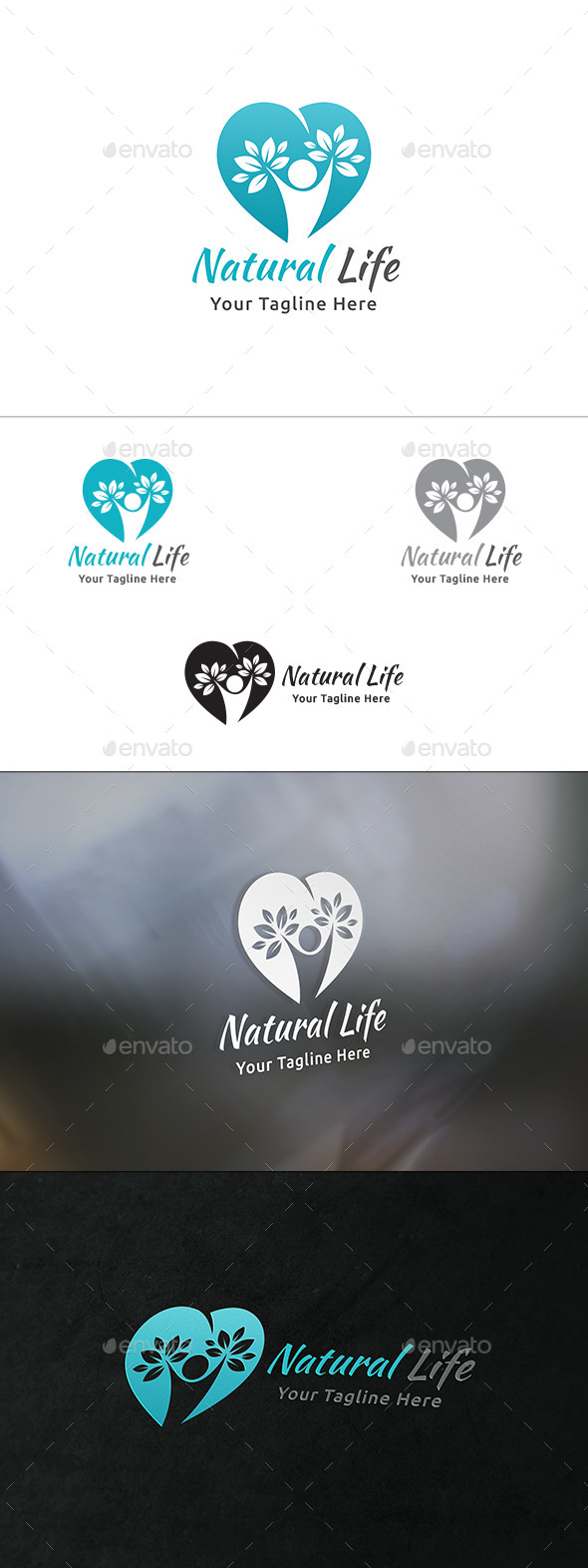 Natural Life Logo - Nature Logo Templates