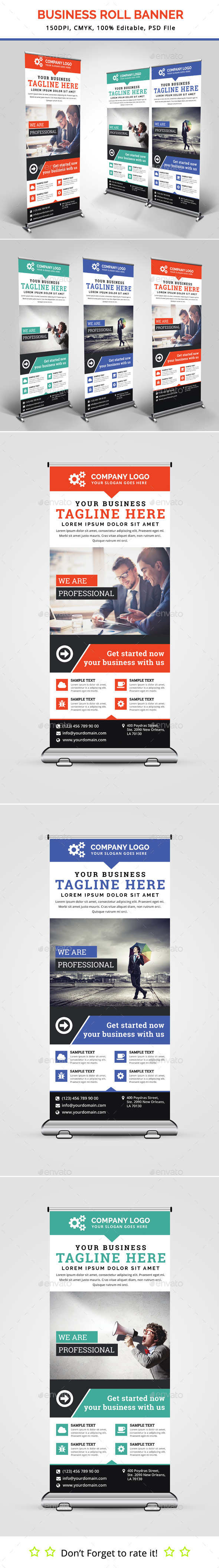 Business Roll Up Banner V18 - Signage Print Templates