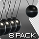 Newton Pendulum - 8 Pack - VideoHive Item for Sale