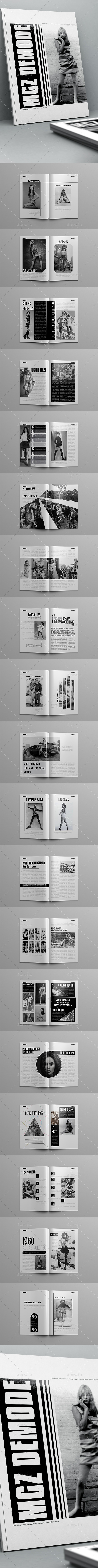 Demode Magazine Template 40 Pages - Magazines Print Templates
